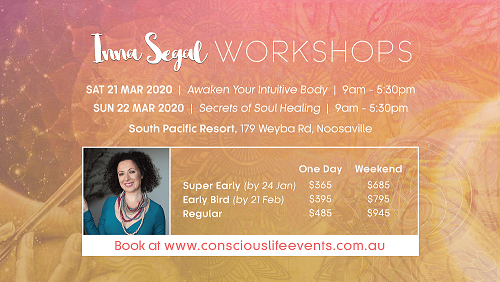 Inna Segal Noosa workshops
